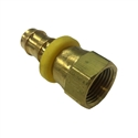 "Parker Hannifin Reusable Push-Lok Hose Barb Brass Fitting 1/2"" to #8 JIC FM"