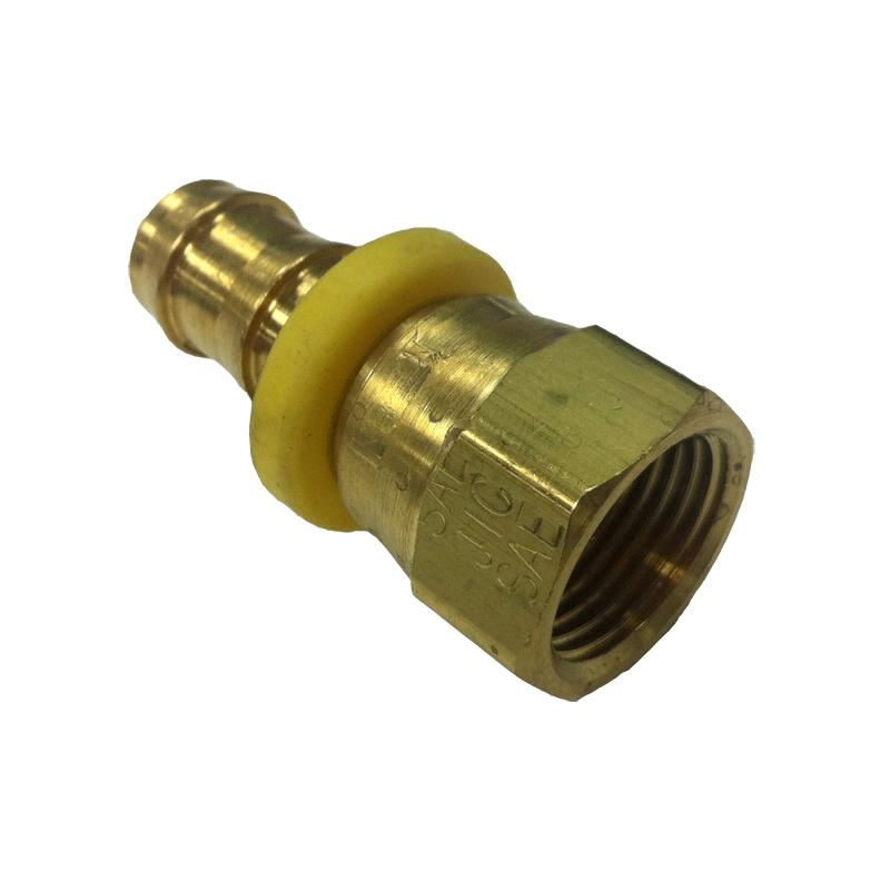 Parker hannifin reusable push lok hose barb brass fitting