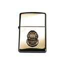 Engraved Zippo Lighter Morse with Mark V Helmet - Chrome