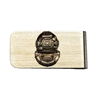 Chrome Money Clip with Mark V Logo