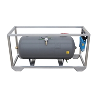 Nuvair Framed 60 Gallon Horizontal ASME 200 Psi Volume Tank With Filtration