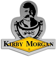 Kirby Morgan Bev KM Diamond Logo Die Cut Sticker