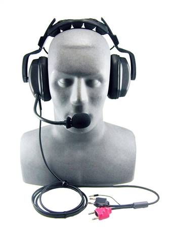 OTS THB-2A Headset, Deluxe with Boom Mic