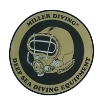 Miller Diving Hang Tag Circular Sticker