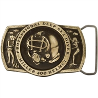 Miller Diving Bronze Belt Buckle