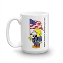 American Diving Mug Proud Patriot