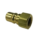 "Eaton Hansen B2K16 ISO-B Interchange Hydraulic 1/4"" Male Brass Quick Disconnect Fitting"