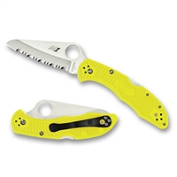 Spyderco Salt 2 Knife - H1 Steel Blade, Yellow FRN Handle