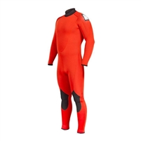 Henderson 7/5mm Men's Fire Fleece Rescue Swimmer Safety Orange Backzip Jumpsuit