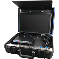 "CON-3500/D Suitcase Dual Console With 15"" Color LCD Monitor & HDD DVR Recorder by Outland Technology"