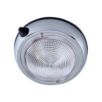 "Perko Surface Mount Dome Light - 3 3/4"" O.D. (3"" Lens) - Chrome Plated [0300DP0CHR]"