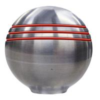 "Schmitt  Ongaro Throttle Knob - 1-?"" - Red Grooves [50044]"