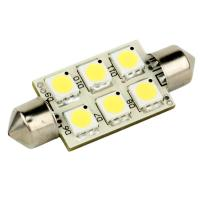 Lunasea Single-Sided 6 LED Festoon - 10-30VDC/1.5W/97 Lumens - Warm White [LLB-186W-21-00]