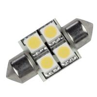Lunasea Single-Sided 4 LED Festoon - 10-30VDC/0.7W/60 Lumens - Warm White [LLB-202W-21-00]