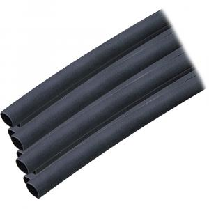 "Ancor Adhesive Lined Heat Shrink Tubing (ALT) - 1/4"" x 12"" - 10-Pack - Black [303124]"