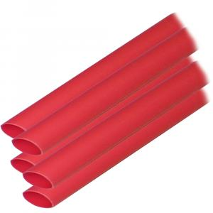 "Ancor Adhesive Lined Heat Shrink Tubing (ALT) - 3/8"" x 6"" - 5-Pack - Red [304606]"
