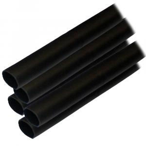 "Ancor Adhesive Lined Heat Shrink Tubing (ALT) - 1/2"" x 12"" - 5-Pack - Black [305124]"