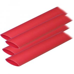 "Ancor Adhesive Lined Heat Shrink Tubing (ALT) - 3/4"" x 6"" - 4-Pack - Red [306606]"