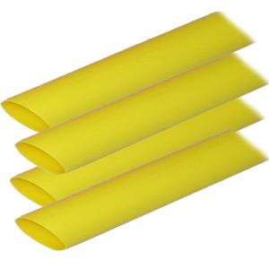 "Ancor Adhesive Lined Heat Shrink Tubing (ALT) - 3/4"" x 12"" - 4-Pack - Yellow [306924]"
