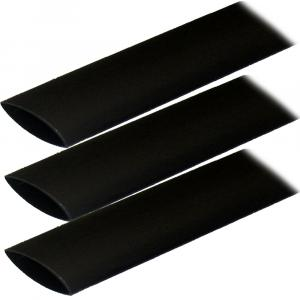 "Ancor Adhesive Lined Heat Shrink Tubing (ALT) - 1"" x 3"" - 3-Pack - Black [307103]"