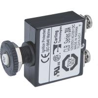 Blue Sea Push Button Reset Only Screw Terminal Circuit Breaker - 20 Amps [2134]
