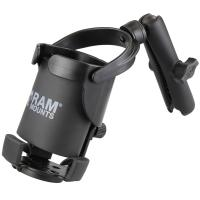RAM Mount Level Cup XL w/Long Double Socket Arm [RAM-B-417B-C-201U]