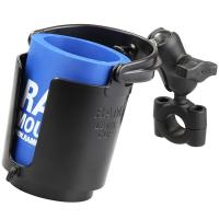 "RAM Mount RAM Torque 3/4"" - 1"" Diameter Handlebar/Rail Base with 1"" Ball, SHORT Arm and Level Cup [RAM-B-408-75-1-A-132U]"