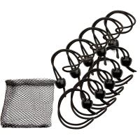 "Whitecap Jaw Bungee - 12"" Elastic Cord w/1"" Jaw Ball - 10-Pack [JB-100716B]"