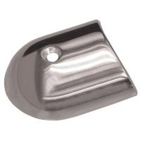 TACO Polished Stainless Steel 2-19/64 Rub Rail End Cap [F16-0091]