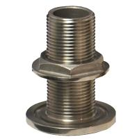 "GROCO 1/2"" NPS NPT Combo Stainless Steel Thru-Hull Fitting w/Nut [TH-500-WS]"