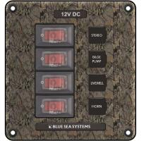 Blue Sea 4323 Circuit Breaker Switch Panel 4 Position - Camo [4323]