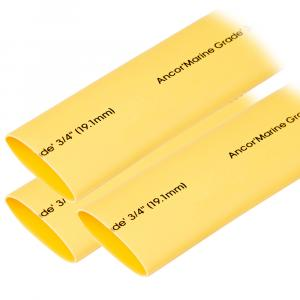 "Ancor Heat Shrink Tubing 3/4"" x 3"" - Yellow - 3 Pieces [306903]"