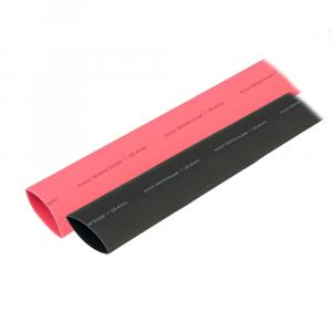 "Ancor Heat Shrink Tubing 1"" x 3"" - Black  Red Combo [307602]"