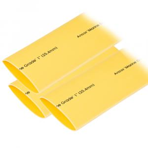 "Ancor Heat Shrink Tubing 1"" x 3"" - Yellow - 3 Pieces [307903]"