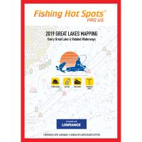 Fishing Hot Spots Pro GL 2019 Great Lakes Mapping Every Great Lake  Related Waterway for Lowrance  Simrad Units [E229]