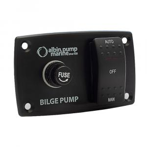 Albin Pump 3-Way Bilge Panel - 12/24V [01-66-027]