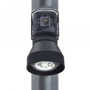 Aqua Signal Series 43 Masthead/Foredeck Mast Mount LED Combo Light - 12V/24V - Black Housing [3108201000]