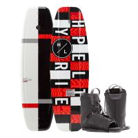 Hyperlite Motive Wakeboard 134 cm w/Frequency Boot - 2020 Edition - Black/Red [20283274]