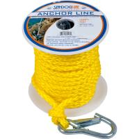 "Sea-Dog Poly Pro Anchor Line w/Snap - 3/8"" x 100 - Yellow [304210100YW-1]"