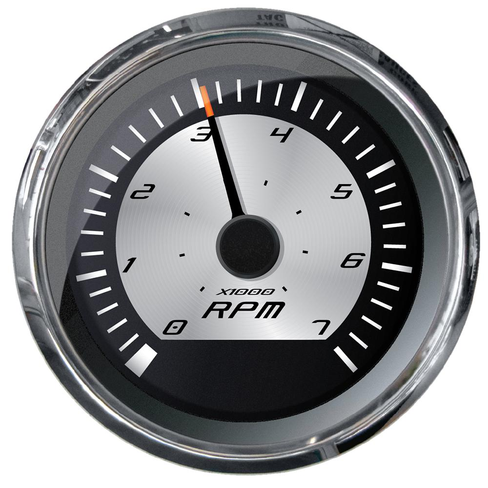 Faria 32904 Euro Tachometer White 4 Gas 6000 RPM