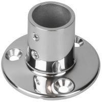 "Sea-Dog Rail Base Fitting 2-3/4"" Round Base 90 316 Stainless Steel - 1"" OD [280901-1]"