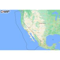 C-MAP M-NA-Y206-MS West Coast  Baja California REVEAL Coastal Chart - Does NOT contain Hawaii [M-NA-Y206-MS]