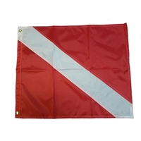"Trident 48"" X 60"" Nylon Dive flag with grommets"