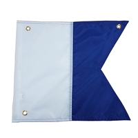 "Trident 14"" X 16"" Nylon Alpha flag with Grommets & Stiffner"