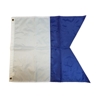"Trident 20"" X 24"" Nylon Alpha flag with grommets"