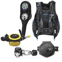 "Aqua Lung's ""Essential Package"": Pro HD BCD, Titan Regulator, ABS Octopus, i300 2 Gauge"