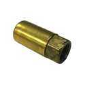 "Diveline JIC 4 Brass 1/4"" Pneumo Hose Fitting"