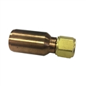 "Diveline O2 Phosphor Bronze/Brass 3/8"" Oxygen Hose Swivel Female Fitting"