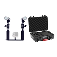 Big Blue Camera Tray Kit W/ Two lights and Hard Case