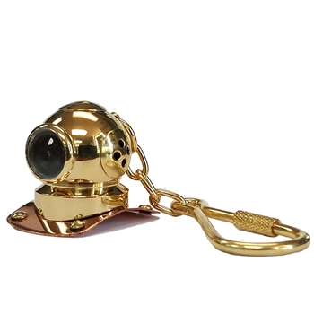 Brass/Copper Mark V Helmet Keychain